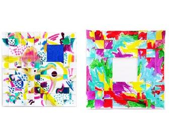 Original Painting // Painting on Paper // Mixed Media // Modern Art // Woven Painting // Vivid Artwork