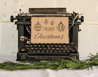 Christmas Ornament Card : Black Inkwell