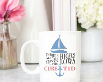 Through the Highs and Through the Lows, Cure T1D Diabetes Awareness Vinyl Decal