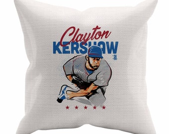 Clayton Kershaw Star B Los Angeles D Decorative Pillow MLBPA Officially Licensed