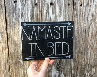 Namaste in bed sign / namaste sign / yoga sign / namaste / zen sign