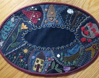 Everyday Crazy Wool Table Mat - Handmade