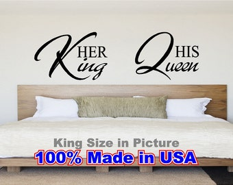 King And Queen Wall Decor her king his queen | etsy