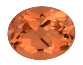 Imperial Orange Triplet Quartz Oval Cut Loose Gemstone 1A Quality 10x8mm TGW 3.00 cts.