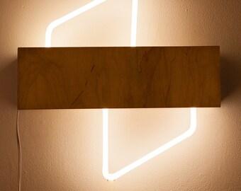 Double-Wedge Neon Light Fixture