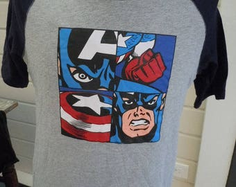 Size M (45) ** Captain America Shirt (Single Sided)