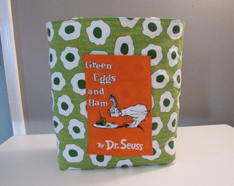 Large Green Eggs and Ham Tote Bag