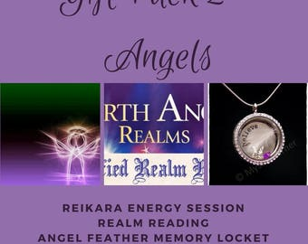Angels Gift Pack, Guardian Angel Pack, Gift Pack, Great Value Gift Pack, Any Occasion Gift Pack, Realm Reading, Energy Session, Angel Locket