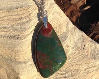 Bloodstone necklace
