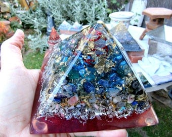 Orgone Pyramid | Positive Energy Orgone Generator | Metaphysical Device | Meditation Device | Gemstone Pyramid