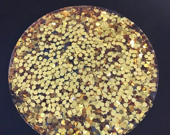 Gold Glitter Resin Coasters