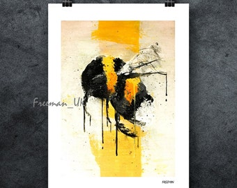Bumble Bee Abstract fine art Giclee print