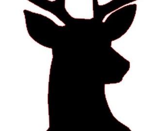 "Deer Decal 5""x2.5"""