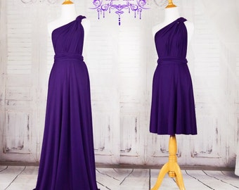 Royal Purple Bridesmaid Dress Sweet heart Wrap Convertible Infinity Dress Evening Dresses  -C10# B10#