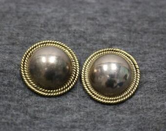 Sterling Silver, Vintage Brooch Pin Earring