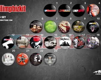 collection sheets Limp Bizkit / / Limp Bizkit buttons collection