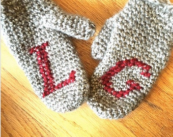 Easy Embroidered Mitts crochet PATTERN