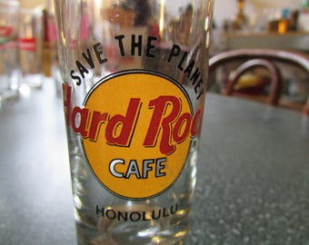 Vintage Save the Planet Hard Rock Cafe Honolulu Shot Glass