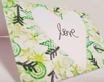 LOVE Mini Card - Hand Stamped!