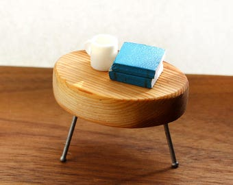 Cedar Side Table - Mid Century Modern Miniature