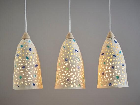 Lighting hanging lamp shades pendant lighting 3 ceramic like this item aloadofball Image collections