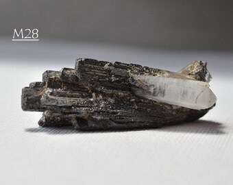 Quartz Crystal on Descloizite, from Chihuahua, Mexico - Superb Miniature Mineral Display Specimen