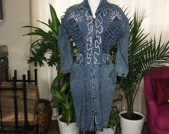 Vintage Estate Jean Dress