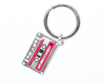 Cassette Keyring   Mix Tape Keyring   Cassette Key Chain   Key Chain Gift   Retro Charm  