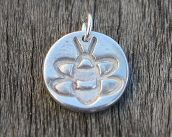 Silver bee charm, honey bee charm, bumble bee charm, bee jewelry, bee lover jewelry, silver charm, silver charms