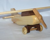 Handcrafted Wooden Toy Airplane, Heirloom Model, Individually Handmade, Free Shipping