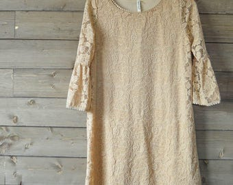 Tan Lace Tunic