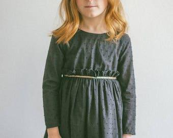 Black dress girl, Birthday dress, Occasion dress, Party dress, Girl dress, Plumeti dress