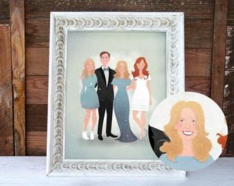 Custom Family Portrait & Print - Full Length