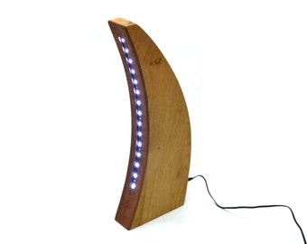 Solid Oak Desk Lamp/Light, Low voltage LED Lighting, Table, Office, Hand Crafted