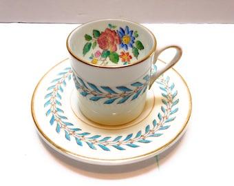 Vintage Wedgewood Demitasse Bone China Tea Cup and Saucer England