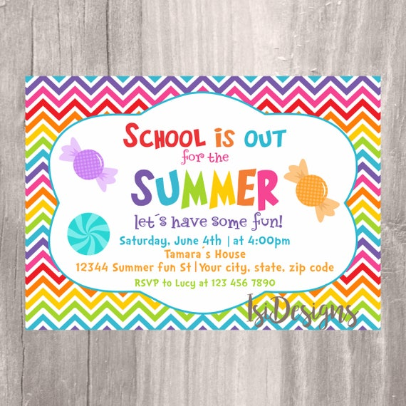 end of the year party invitation summer party school s out for the