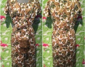 Elvie Hill Australian vintage designer wiggle dress with novelty fruit print