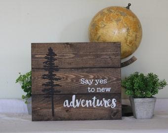 Adventure wall decor - Tree wall art - Adventure Nursery - Nursery wall decor - Say yes to adventure - Boys wall decor - boys room decor