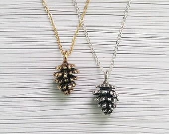 Dainty Pine Cone Necklace, Pine cone, Pine Cone jewelry, Nature Jewelry, Sterling Silver necklace, Gold Necklace, Gifts For Her