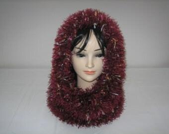 Snood neck hooded wool fancy