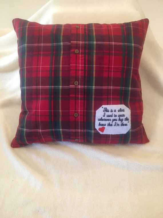 Memory Pillow Made From A Loved Ones Clothing