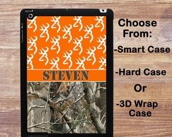 iPad Case Camoauflage Browning Deer iPad Mini 1/2/3/4 Smart Case Personalized iPad Air 1/2 iPad 2/3/4 Retina, iPad Pro 9.7 Inch 3D #2678