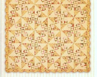 ALLEMANDE Quilt Pattern Miss Rosie's Patchwork Throw Bed Size RARE