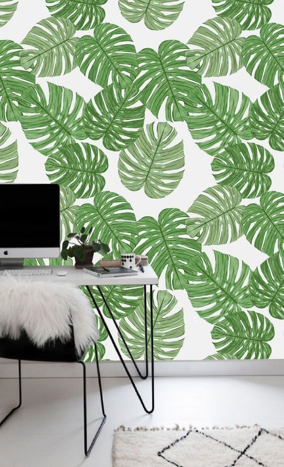 self adhesive wallpaper removable wallpaper tropical wall. Black Bedroom Furniture Sets. Home Design Ideas
