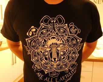 Vegan T Shirt - 'We Are All Earthlings'