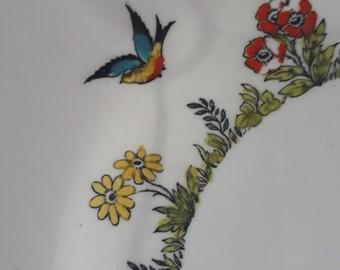 Collingwood Art Deco Bone China Plate Birds Swallows Flowers