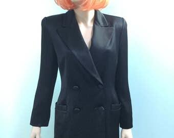 Satin Double Brest Suit,Size 4,Ellen Tracy
