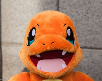 Light Up Charmander-Charmander Plush-Charmander-Pokemon Plush-Pokemon-Build a Bear-Night Light-Fan Art-Upcycled