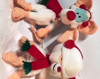 Vintage Pinky And The Brain Holiday Plush Beanies Warner Bros. Store 1990's New