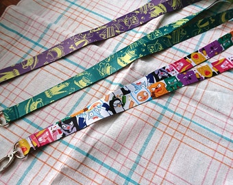 Adventure time lanyards | Gravity Falls | Sushi | Tea Time lanyards (16.5''inches)
